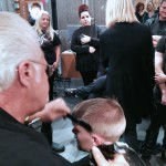 Stylists practice what they learned at Antonino's Barbering Class